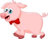 Porco bonito dos desenhos animados Foto de Stock Royalty Free