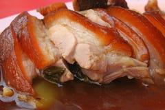 Porco brasato Fotografie Stock
