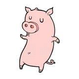 porco cômico engraçado dos desenhos animados Fotos de Stock Royalty Free