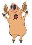 Porco cartoon Fotografia de Stock Royalty Free