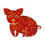 Porco chinês do ano novo foto de stock