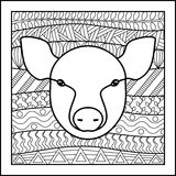 Porco chinês do sinal do zodíaco Imagem de Stock Royalty Free