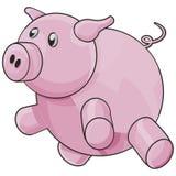 Porco com trajeto de grampeamento Imagem de Stock Royalty Free
