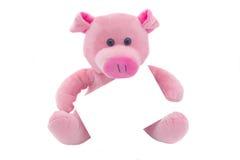 Porco com um cartão Imagens de Stock Royalty Free