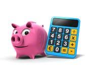 Porco cor-de-rosa Fotografia de Stock