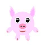 Porco cor-de-rosa do bebê Foto de Stock