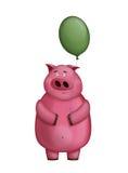 Porco cor-de-rosa pequeno Foto de Stock