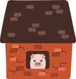 Porco da casa do tijolo Fotografia de Stock