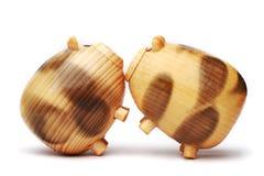 Porco de madeira Imagem de Stock Royalty Free
