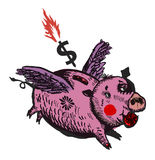 Porco de Moneybox Imagem de Stock
