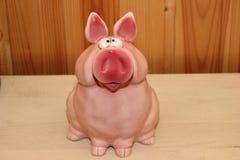 Porco de vidro, mealheiro Foto de Stock Royalty Free
