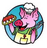 Porco del BBQ Fotografia Stock Libera da Diritti