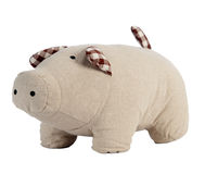 Porco do brinquedo isolado no branco fotos de stock