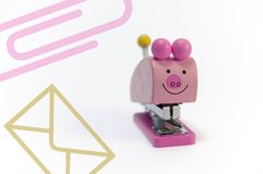 Porco do escritório Foto de Stock
