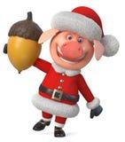 porco do Feliz Natal da ilustração 3d Fotografia de Stock Royalty Free