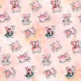 Porco dos desenhos animados Foto de Stock Royalty Free