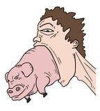Porco e boca grande Fotos de Stock