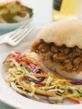 Porco e salsa di barbecue tirati Fotografia Stock Libera da Diritti