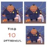 Porco engraçado com ilustração do búfalo Diferenças do achado 10 ilustração royalty free