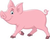 porco engraçado dos desenhos animados ilustração royalty free