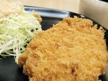 Porco fritto di stile giapponese Fotografia Stock Libera da Diritti