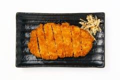 Porco fritto nel grasso bollente Fotografie Stock