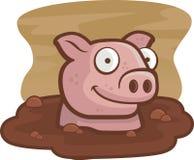 Porco na lama Imagens de Stock