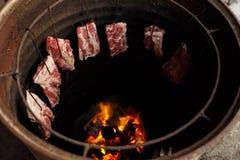 Porco nativo da grade de Tailândia Fotografia de Stock