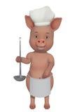 Porco pouco cozinheiro Imagens de Stock