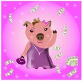 Porco rico Imagem de Stock Royalty Free