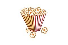 Porcorn in de vector van het kopontwerp vector illustratie