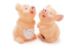 Porcos de borracha Imagem de Stock
