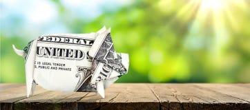 Porcos de um dinheiro fotos de stock royalty free