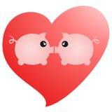 Porcos do amor Imagem de Stock