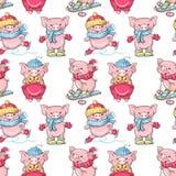 Porcos dos desenhos animados Imagem de Stock Royalty Free