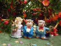 Porcos no jardim Imagens de Stock