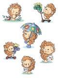 Porcos- pequenos doces que jogam e que têm o divertimento ilustração stock
