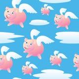 Porcos sem emenda do vôo Imagens de Stock Royalty Free