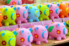 Porcs d'argent Images libres de droits