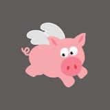 porcs de porc de vol Images libres de droits