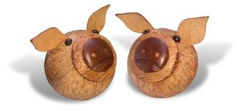 Porcs en bois Image libre de droits