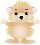 Porcupin cartoon Royalty Free Stock Photo