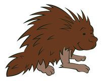 Porcupine. A Vector Illustration of a Porcupine Royalty Free Stock Photo
