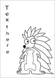 Porcupine cartoon  Royalty Free Stock Photography
