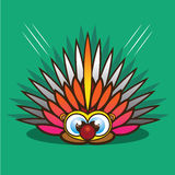 Porcupine cartoon. Eps 10 vector Royalty Free Stock Image