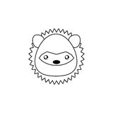 Porcupine Drawing Face Stock Images