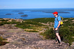 Porcupine Islands from Cadillac Mountain, Acadia National Park Royalty Free Stock Images