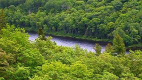 Porcupine Mountains Backcountry Scenery stock footage