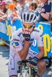 Pordenone, Italien am 27. Mai 2017: Berufsradfahrer Adam Yates Orica Team, im weißen Trikot, in der ersten Linie Stockbild