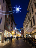 Pordenone, Italy. During winter holidays Royalty Free Stock Photo